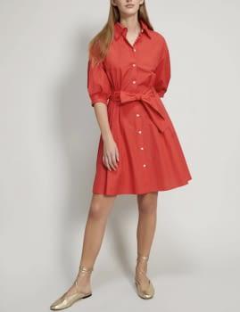 PENNYBLACK vestido camisero color coral