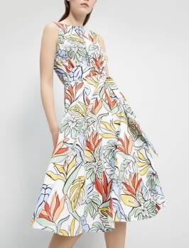 PENNYBLACK vestido estampado tropical