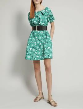 PENNYBLACK vestido estampado verde