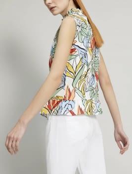 PENNYBLACK camisa sin mangas estampado tropical - 3