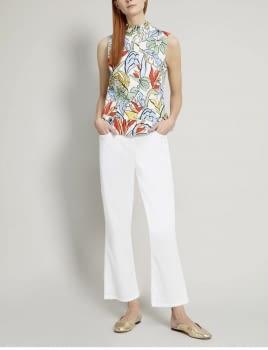 PENNYBLACK camisa sin mangas estampado tropical - 4