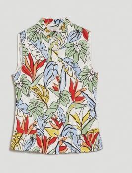 PENNYBLACK camisa sin mangas estampado tropical - 5