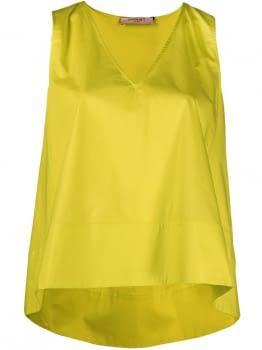 TWINSET camisa sin mangas popelín lima