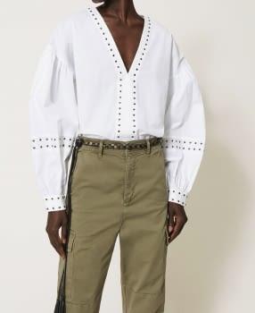 TWINSET camisa blanca con tachas
