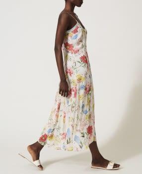 TWINSET vestido largo estampado multicolor - 3
