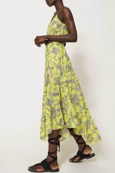 TWINSET vestido tirantes color lima con flores - 2