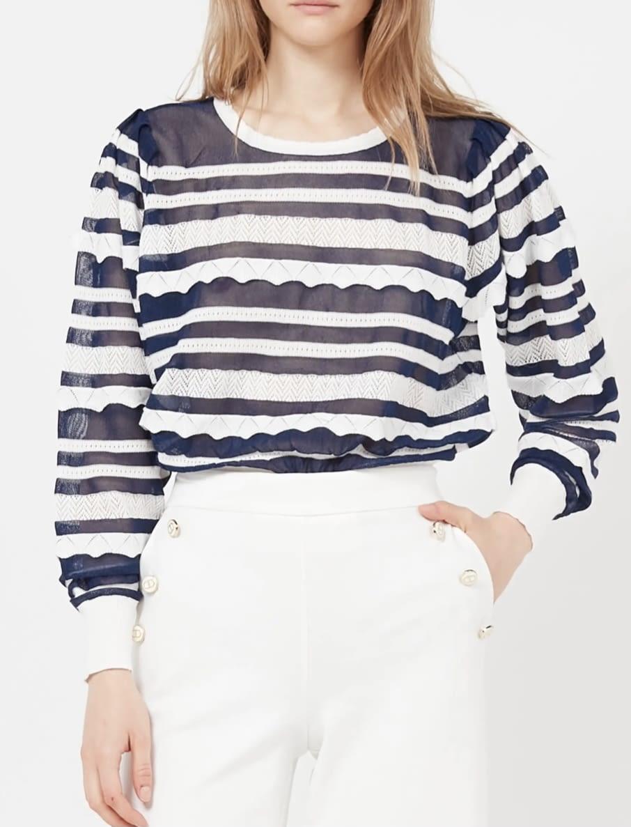 TWINSET jersey con rayas marineras