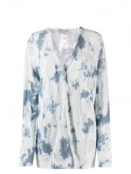 TWINSET chaqueta calada tye dye blanco y azul