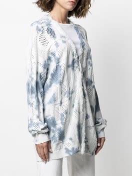 TWINSET chaqueta calada tye dye blanco y azul - 2