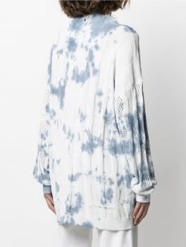 TWINSET chaqueta calada tye dye blanco y azul - 3