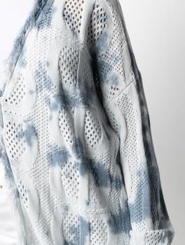 TWINSET chaqueta calada tye dye blanco y azul - 4