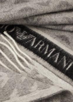 EMPORIO ARMANI foulard en lana gris con logotipo  de águila - 1