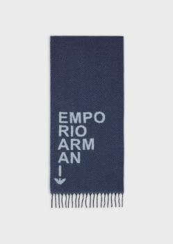 EMPORIO ARMANI foulard en azules con logotipo - 1