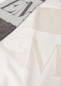 EMPORIO ARMANI foulard logotipo en camel y marrón - 2