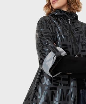 EMPORIO ARMANI chaqueta gris/negro logotipo - 3