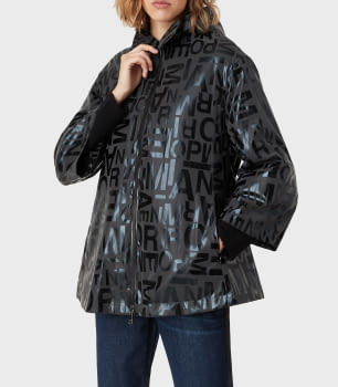 EMPORIO ARMANI chaqueta gris/negro logotipo - 7