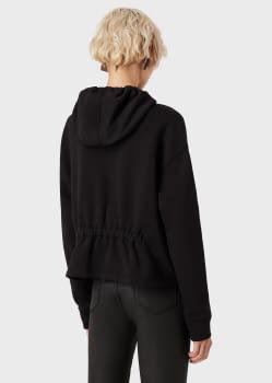 EMPORIO ARMANI sudadera color negro con  logotipo y capucha - 5