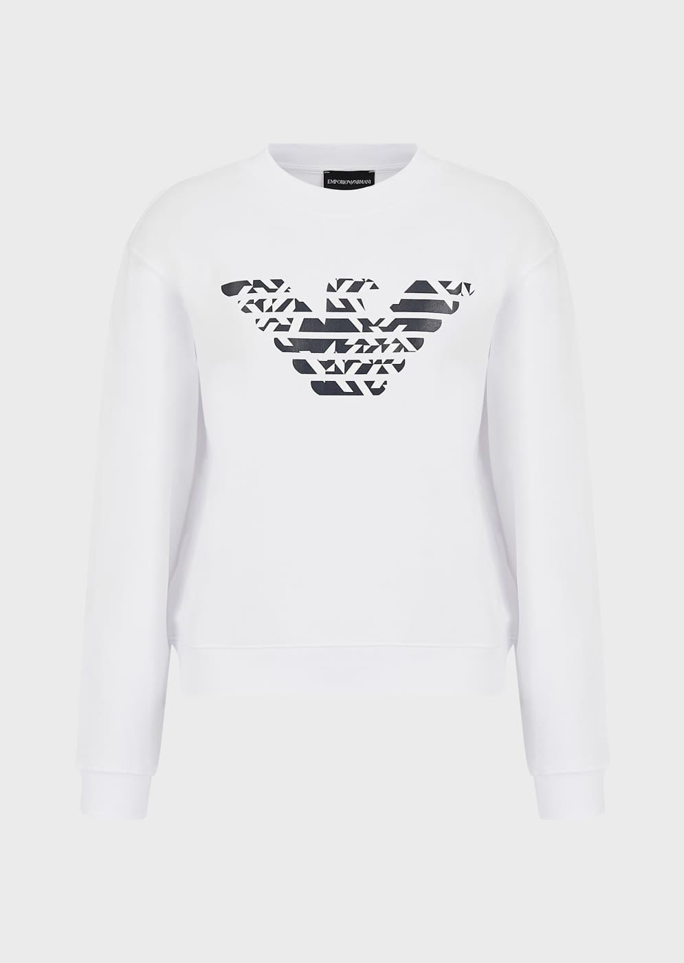 EMPORIO ARMANI sudadera color blanco con águila