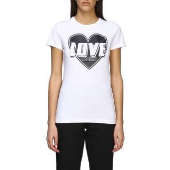 LOVE MOSCHINO camiseta manga corta blanca con corazón