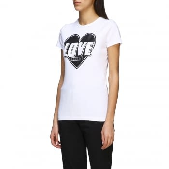 LOVE MOSCHINO camiseta manga corta blanca con corazón - 2
