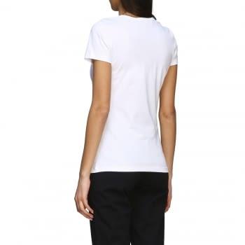 LOVE MOSCHINO camiseta manga corta blanca con corazón - 3