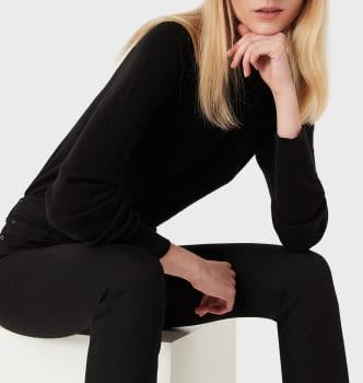 EMPORIO ARMANI pantalón color negro - 1