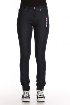 LOVE MOSCHINO pantalón con logo lateral