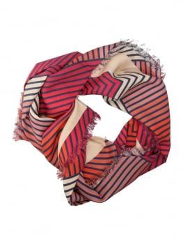 TWINSET pañuelo cuadrado estampado geométrico rojo - 2