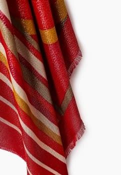 TWINSET foulard rayas rojo