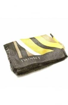 TWINSET foulard rayas verde - 1