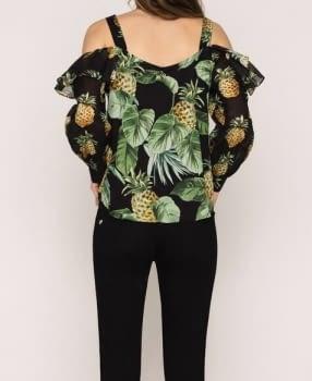 TWINSET camisa estampada piñas - 3