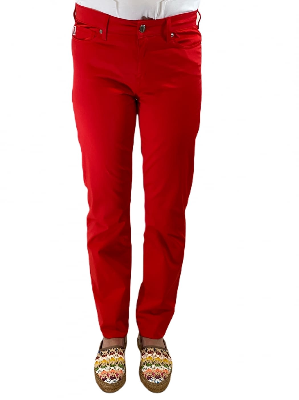 LOVE MOSCHINO pantalón rojo fantasía bolsillos