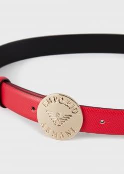 EMPORIO ARMANI cinturón color rojo