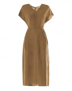 KOCCA vestido lino marrón