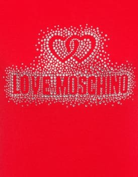 LOVE MOSCHINO camiseta roja strass - 3