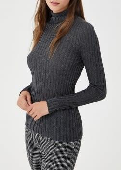 LIU.JO jersey canalé gris