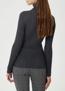 LIU.JO jersey canalé gris - 2