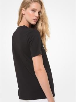 MICHAEL KORS camiseta manga corta negra tachas - 2