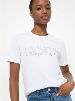 MICHAEL KORS camiseta manga corta blanca tachas - 1