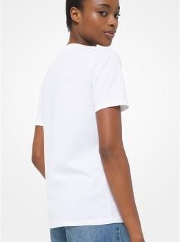 MICHAEL KORS camiseta manga corta blanca tachas - 2