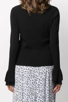 MICHAEL KORS chaqueta color negro con  volante - 2