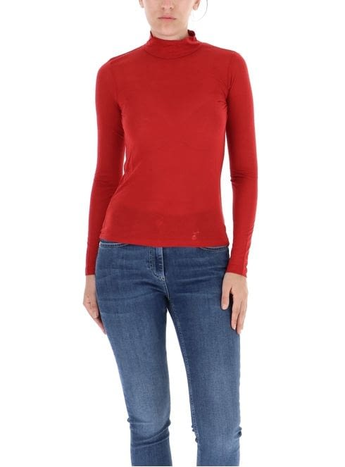 PENNYBLACK jersey cuello alto color rojo