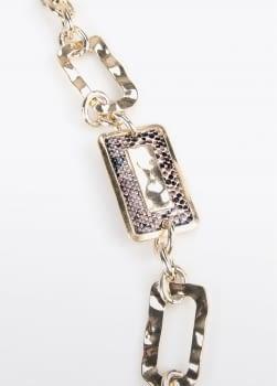 LOLA CASADEMUNT collar largo con piezas pitón - 2