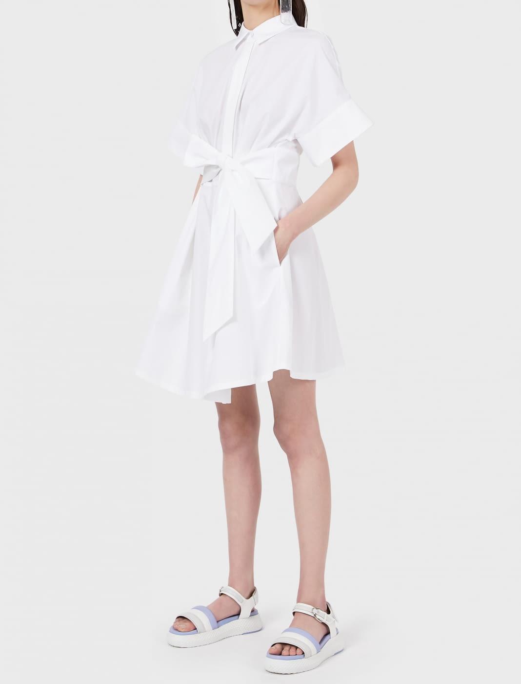 EMPORIO ARMANI vestido camisero blanco