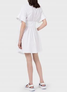 EMPORIO ARMANI vestido camisero blanco - 2