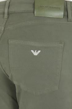 EMPORIO ARMANI pantalón 5 bolsillos color caqui - 3