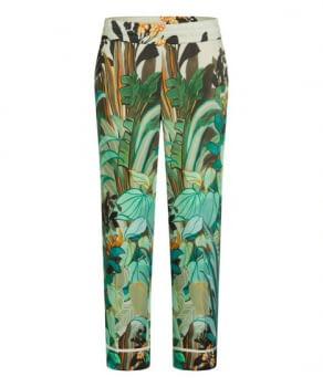CAMBIO pantalón estampado flores verde y naranja