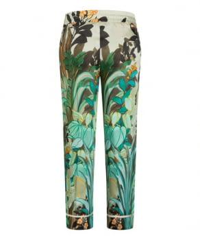 CAMBIO pantalón estampado flores verde y naranja - 2
