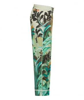 CAMBIO pantalón estampado flores verde y naranja - 3