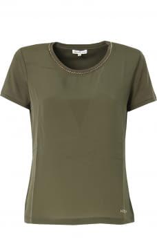KOCCA camiseta manga corta color caqui con vivo